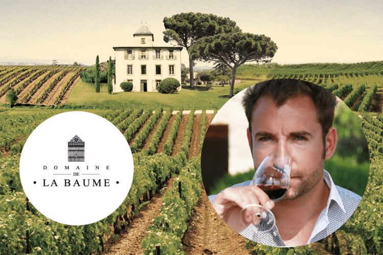 Domaine de la Baume logo and winemaker
